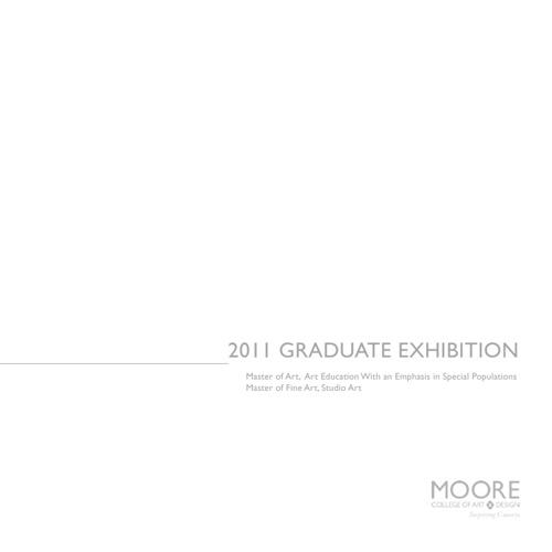 Graduate Exhibition Catalog 2011