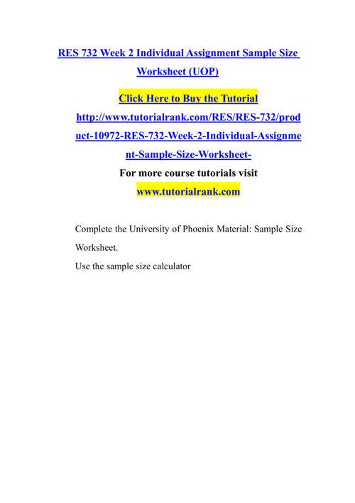 RES 732 Course Success Begins/tutorialrank.com