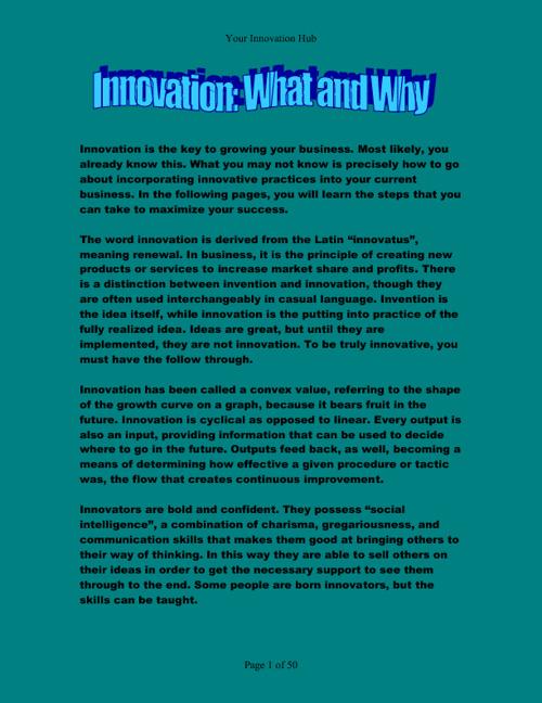 Your Innovation Hub
