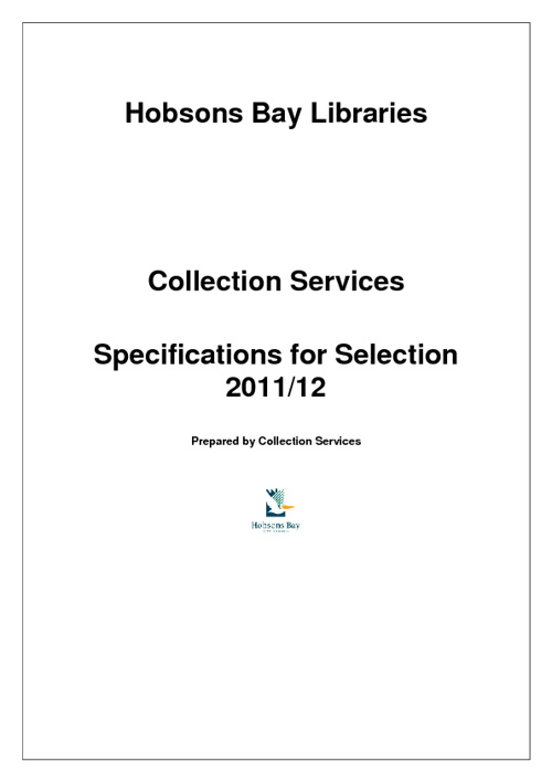 Selection Specifications