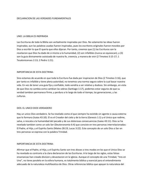 Copy of Nuestra Doctrina