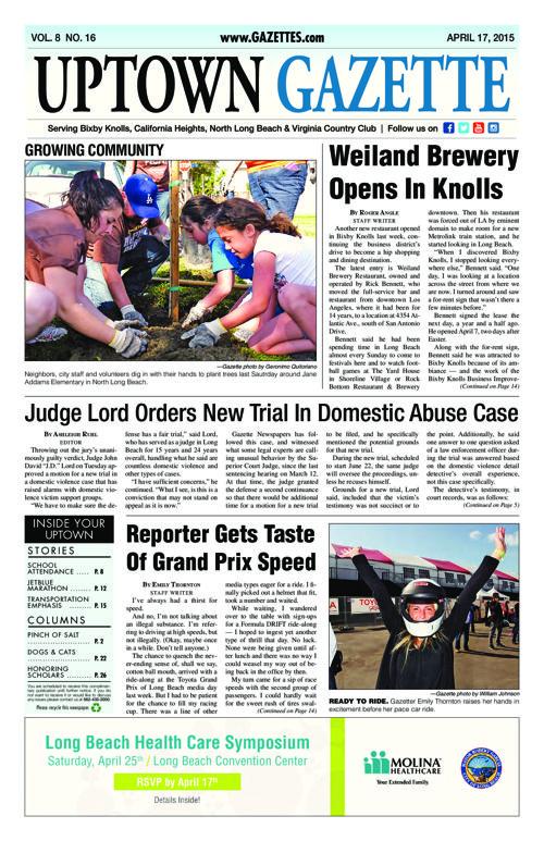 Uptown Gazette  |  April 17, 2015
