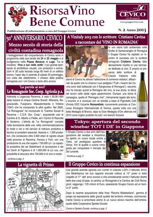 Risorsa Vino Bene Comune n. 2 2013
