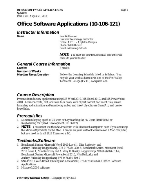03 106-121 Office Software Applications 2013 Online Syllabus(1)