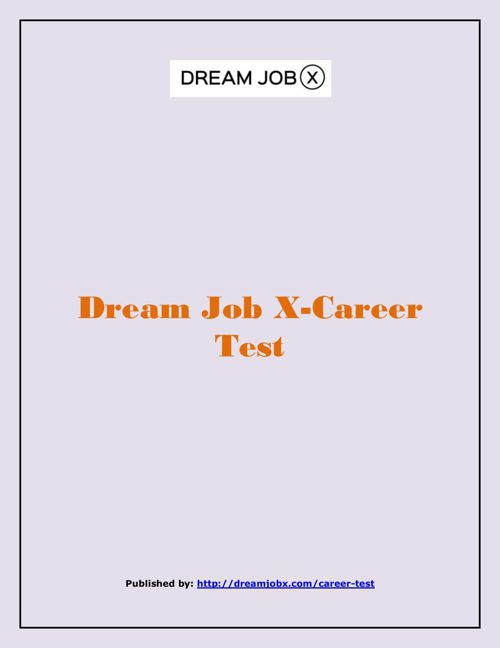 Dream Job X-Career Test