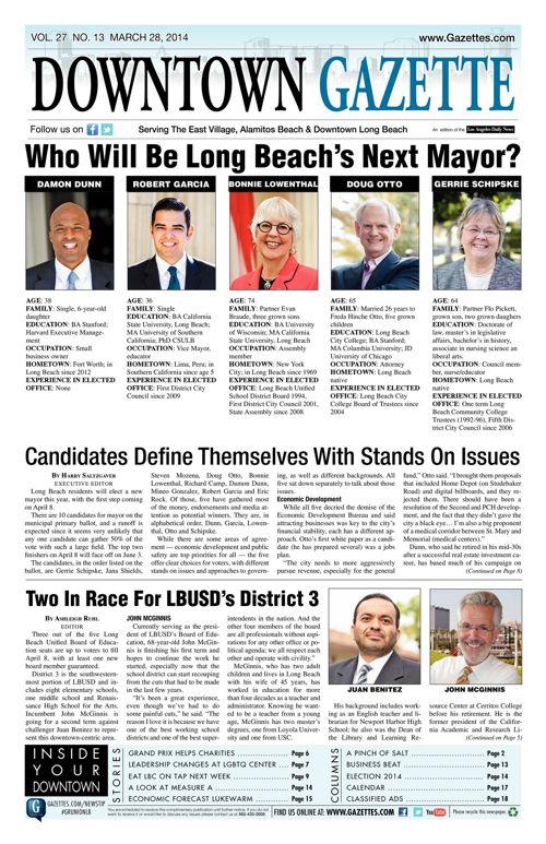 Downtown Gazette     March 28, 2014