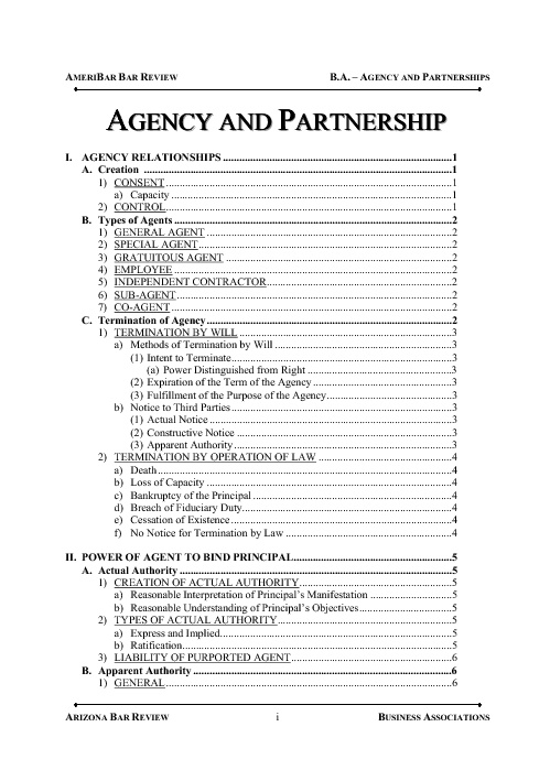 Agency and Partnership