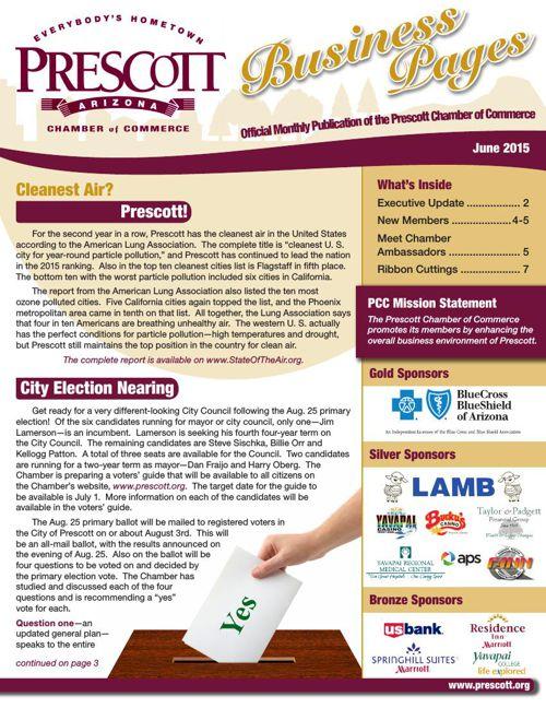 Prescott Chamber 6-15 Newsletter