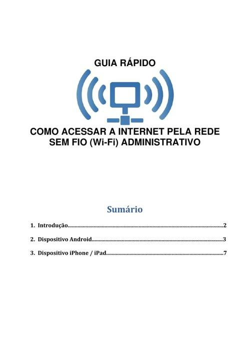 Manual WI_FI para celular e tablet