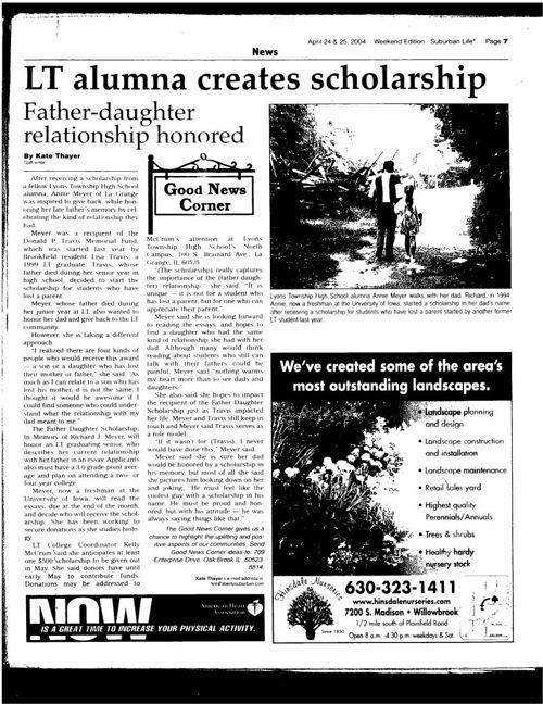 LT Alumma Scholarship Suburban Life