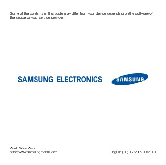 manual for samsung celfone