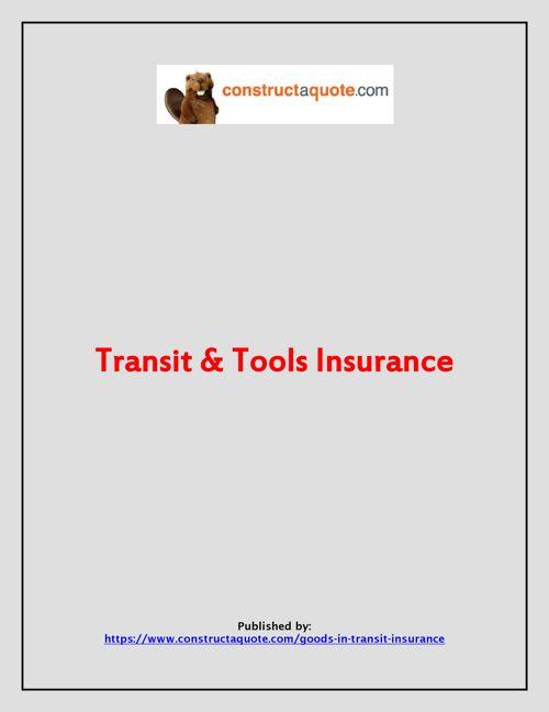 Transit & Tools Insurance