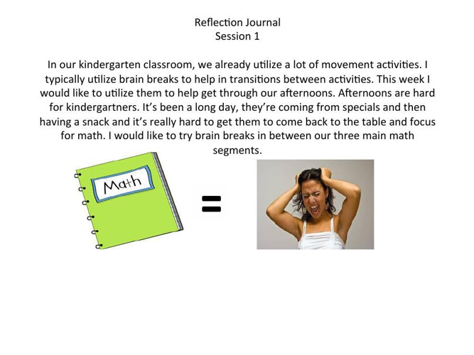 Week 1 Reflection Journal