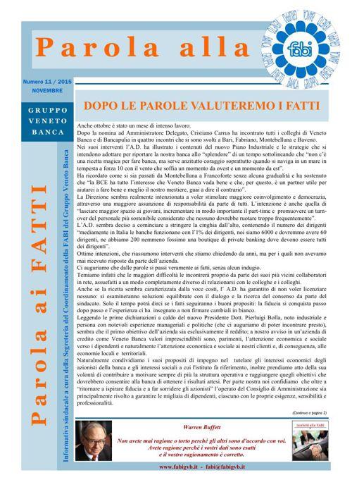 59 - Parola alla FABI - Novembre 2015