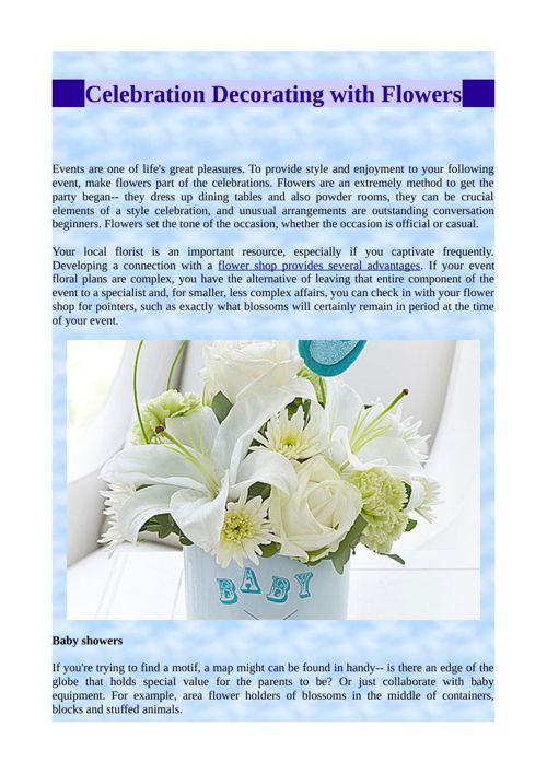 Celebration Decorating with Flowers
