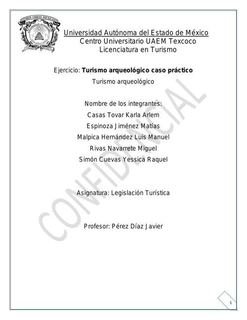 LEGISLACIÓN TURISTICA TURISMO ARQUEOLÓGICO