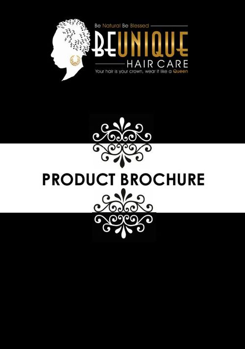 BEUNIQUE Hair Care Customer Brochure