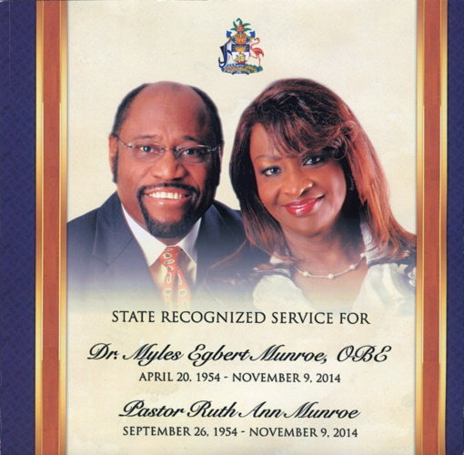 State Recognized Service for Dr. Myles and Pastor Ruth Munroe