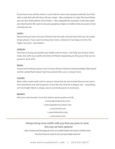 Lingerie Guide for Crimson Boudoir
