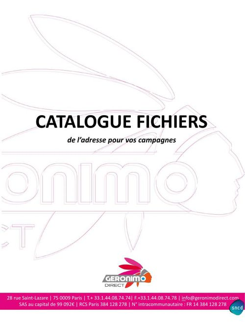 GERONIMO DIRECT - Catalogue fichiers