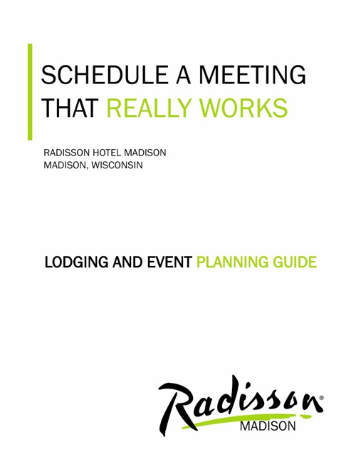 Corporate meeting and planner guide