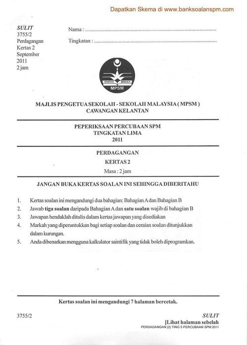 Kertas 2 Pep Percubaan SPM Kelantan 2011_soalan