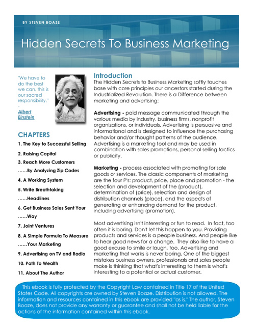 Hidden Secrets To Business Marketing