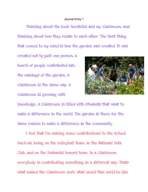 Kinsley Buchanan- Journal Book 2