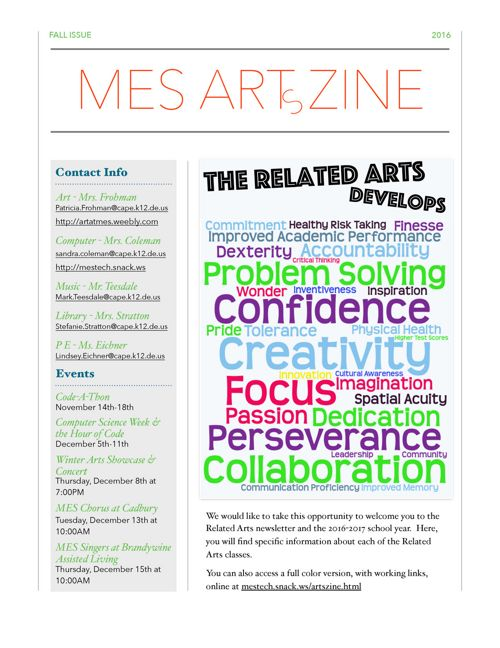 ArtsZine Past Issues