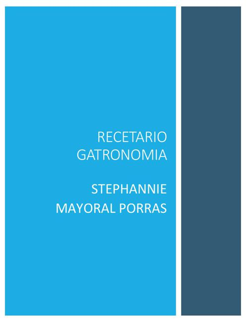 RECETARIO GATRONOMIA STEPHANNIE MAYORAL