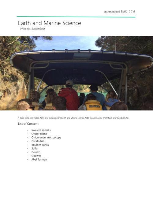 int marine science 2016