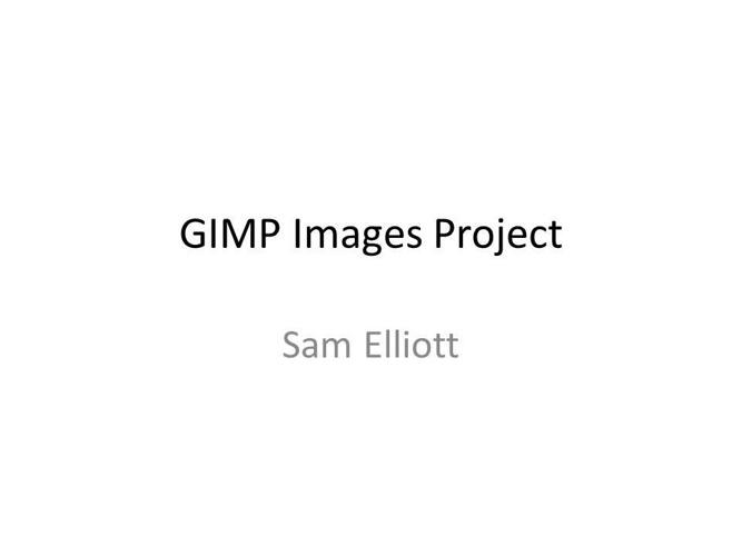 GIMP Image Effects Project