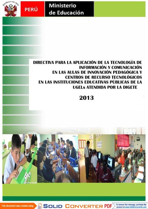 DIRECTIVA AULA INNOVACIONES/ CRT