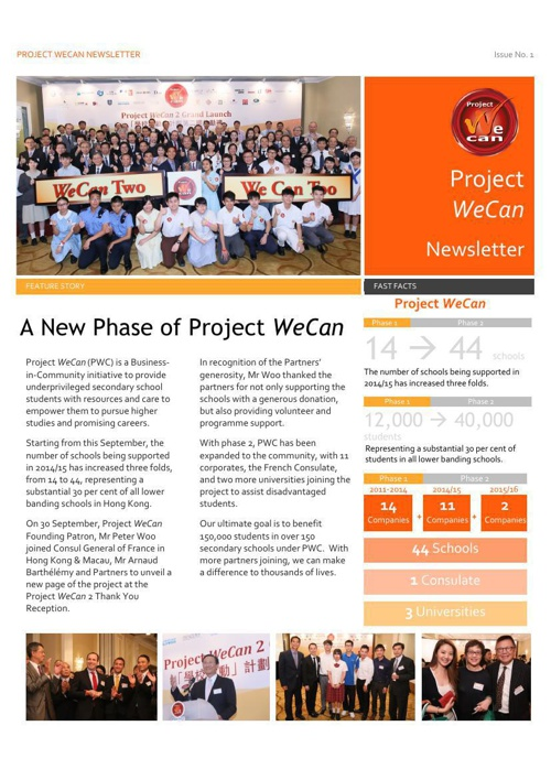Project WeCan Newsletter Issue No.1