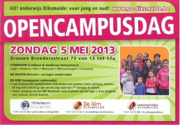 Opencampusdag - 5 mei 2013