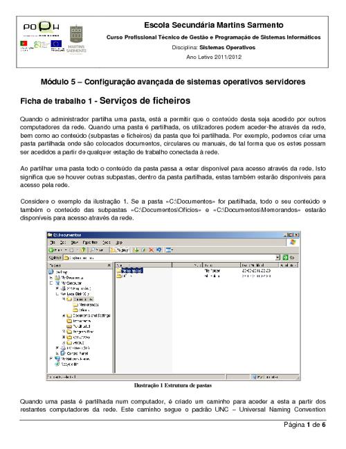 Sistemas Operativos - Módulo 5 - Ficha de trabalho 1