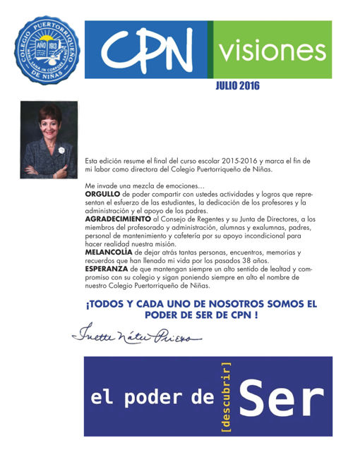CPN Visiones - Julio 2016