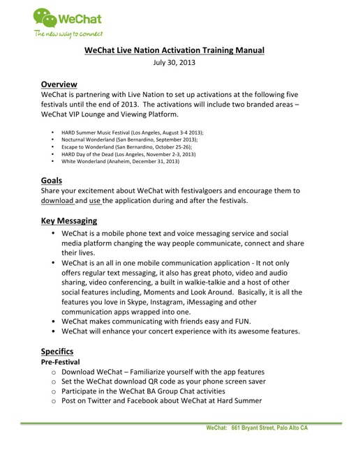 WeChat BA Training Manual