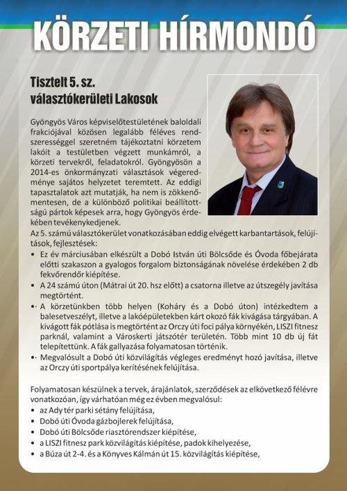 Körzeti Hírmondó, Percze László 2015/1