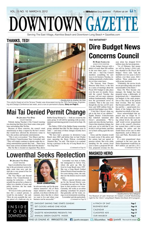Downtown Gazette  |  March 9, 2012