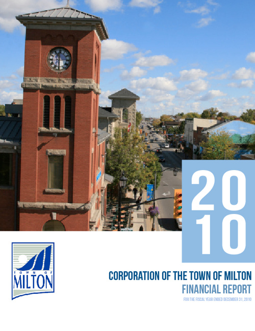 Town of Milton - Financial Report 2010