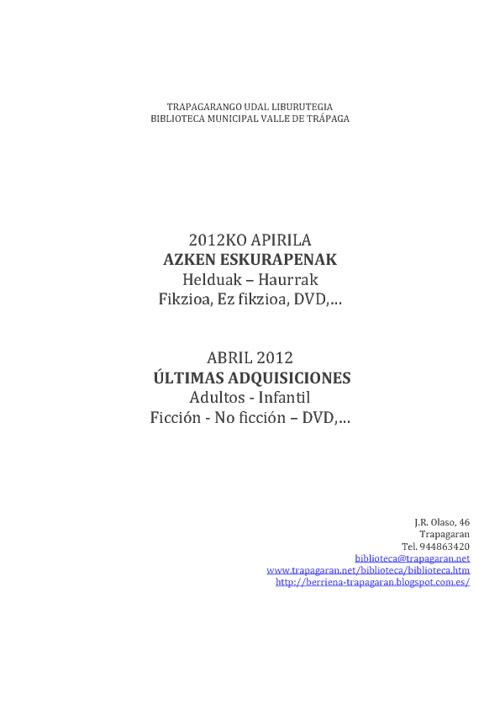 Abril 2012 Apirila