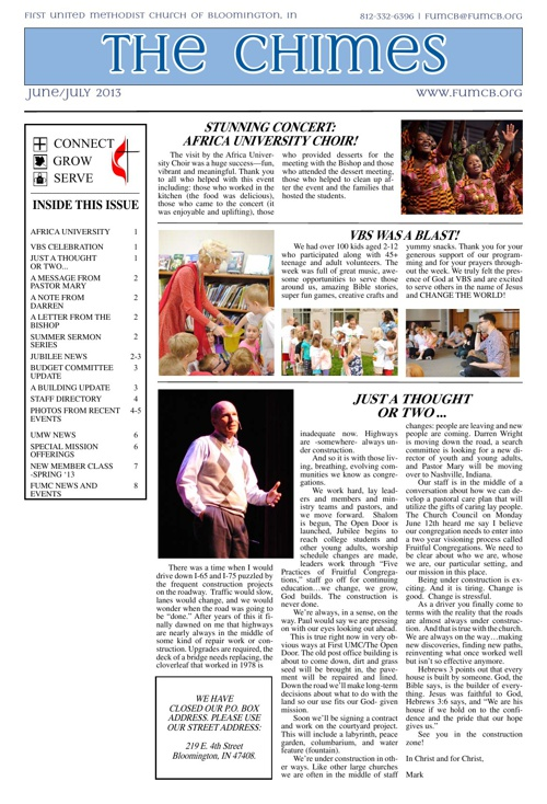 Chimes: June-July 2013 Edition