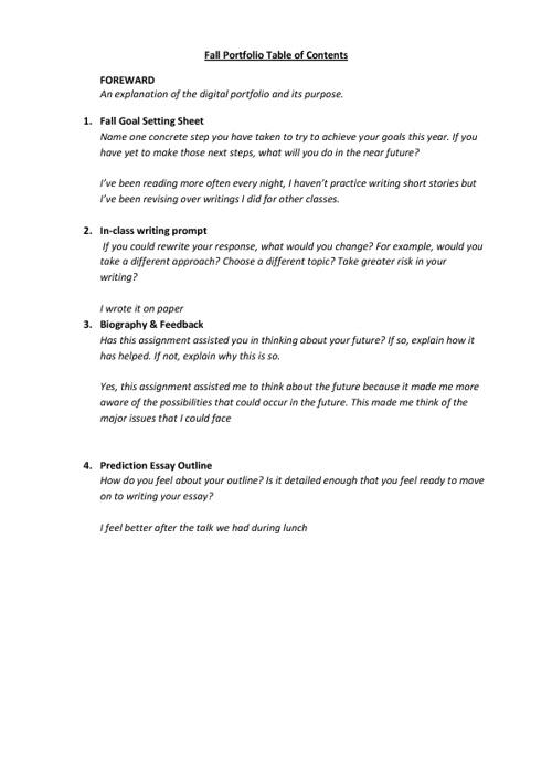 Fall Portfolio (Gr 8)