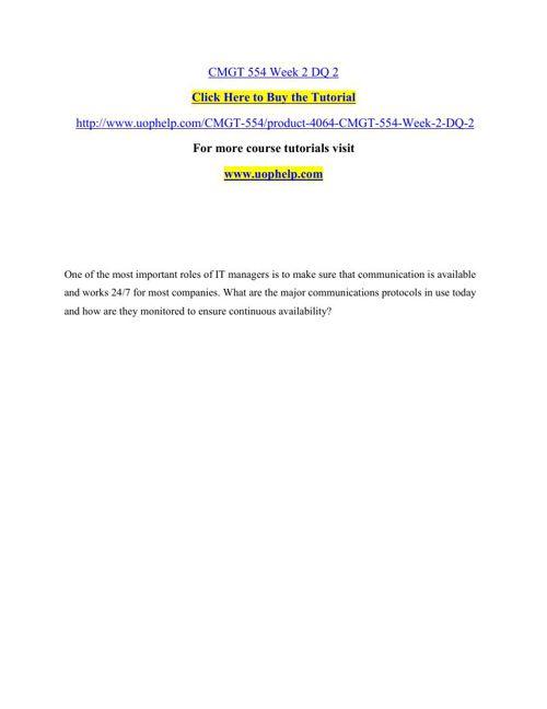CMGT 554 Academic Achievement/uophelp