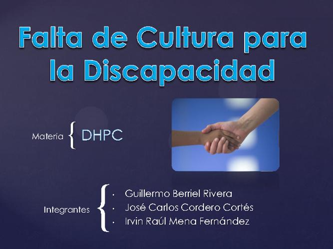WebQuest Cultura Discapacidad
