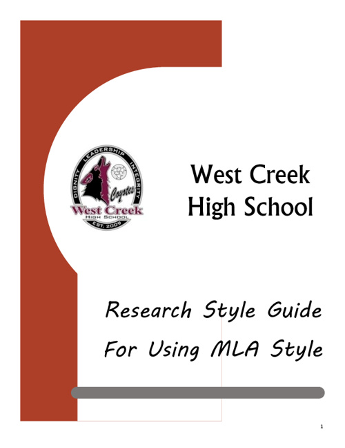 WCHS MLA Style Guide