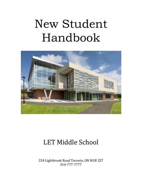 LET Middle School New Grade 7 Student Handbook
