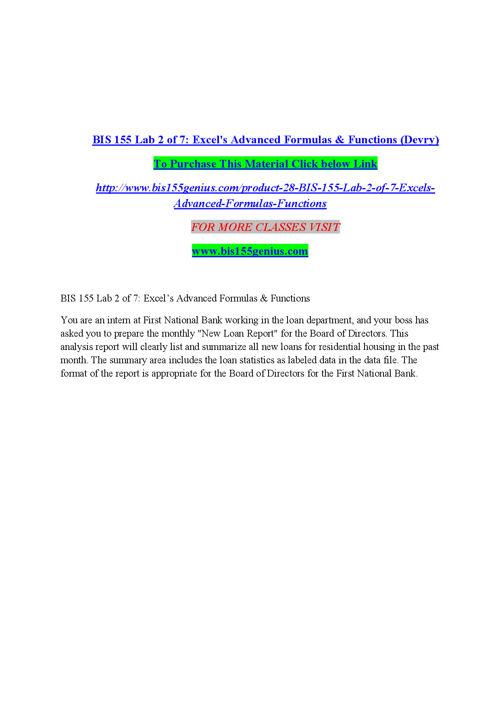 BIS 155 GENIUS Peer Educator/ bis155genius.com