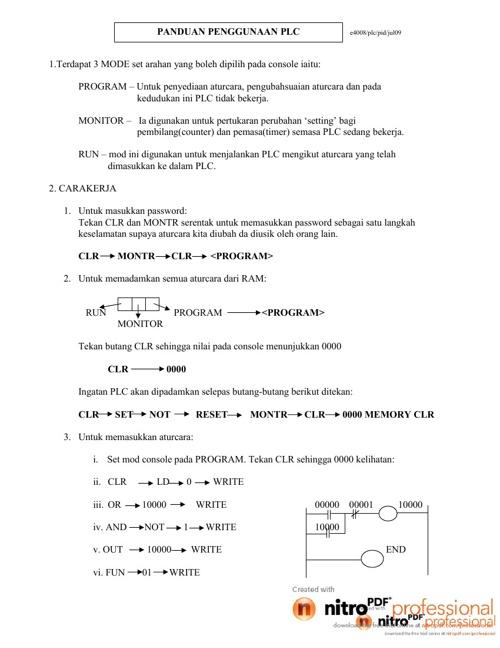 PLC Guideline